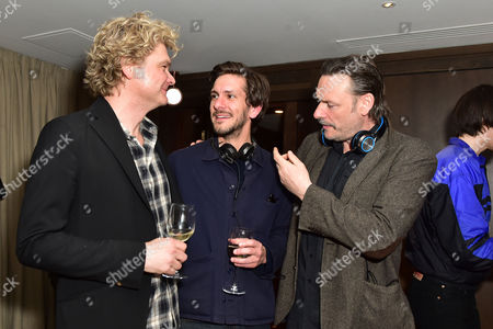 Simon Farnaby and Julian Barratt with Mathew Baynton