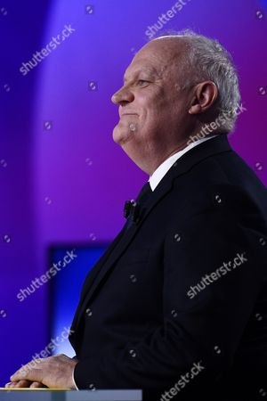 French presidential election candidate for the Popular Republican Union (UPR) party Francois Asselineau takes part in a special political TV show entitled '15mn to convince' at the studios of French television channel France 2 in Saint-Cloud, west of Paris, France, 20 April 2017, a few days ahead of the first round of the presidential election. France holds the first round of the 2017 presidential elections on 23 April 2017.