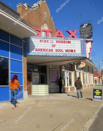 Stock Photo of This photo shows the Stax Museum of American Soul Music in Memphis, Tenn. The Stax recording studio's roster of stars included Otis Redding, Isaac Hayes and the Staple Singers. It eventually went bankrupt but the museum showcases everything from costumes to cars to walls of hit records