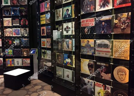 This photo shows displays of records at the Stax Museum of American Soul Music in Memphis, Tenn. The Stax recording studio's roster of stars included Otis Redding, Isaac Hayes and the Staple Singers. Stax eventually went bankrupt but the museum showcases everything from costumes to cars to walls of hit records