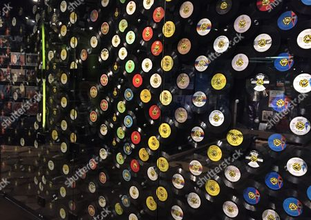 This photo shows a display of 45 RPM records at the Stax Museum of American Soul Music in Memphis, Tenn. The Stax recording studio's roster of stars included Otis Redding, Isaac Hayes and the Staple Singers. Stax eventually went bankrupt but the museum showcases everything from costumes to cars to walls of hit records