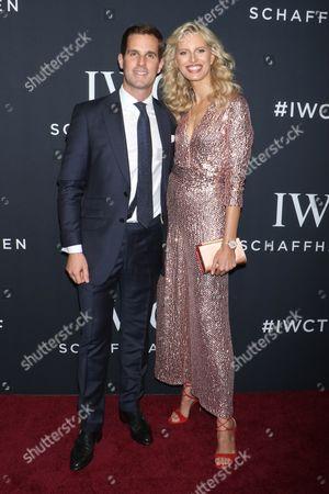 Christoph Grainger-Herr, CEO of IWC Schaffhausen and Karolina Kurkova