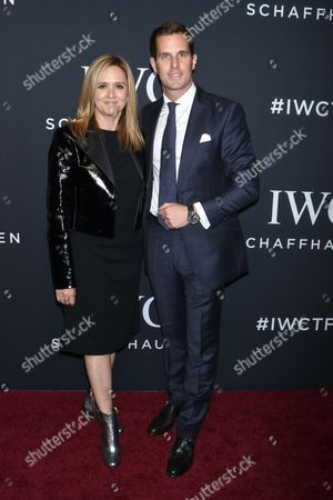Samantha Bee and Christoph Grainger-Herr, CEO of IWC Schaffhausen