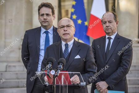 Bernard Cazeneuve, Mathias Fekl and Jean-Jacques Urvoas