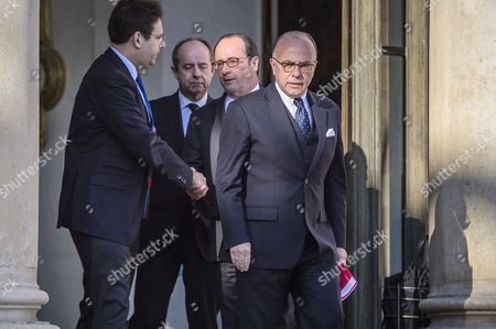 Francois Hollande, Mathias Fekl, Bernard Cazeneuve and Jean-Jacques Urvoas