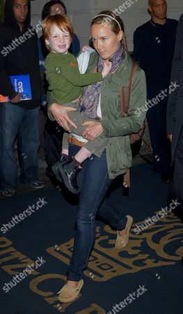 Julia Roberts' son Henry Daniel Moder carried by a  nanny