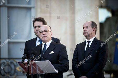 Matthias Fekl, Bernard Cazeneuve and Jean-Jacques Urvoas