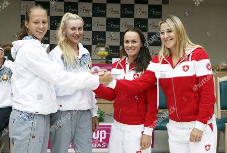 Vera Lapko, Olga Govortsova, Martina Hingis and Belinda Bencic