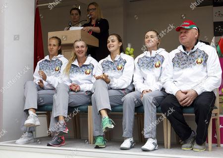 Eduard Dubrou, Vera Lapko, Olga Govortsova, Aryna Sabalenka and Aliaksandra Sasnovich