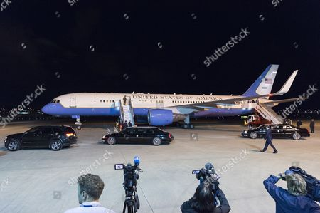 Thge aircraft carrying US Vice President Mike Pence  and his family, wife Karen Pence, and daughter and Charlotte Pence (not pictured) arrives at Sydney International Airport, Australia, 21 April 2017. Mike Pence is embarking on the Trump administration's first visit to the Asia-Pacific region.