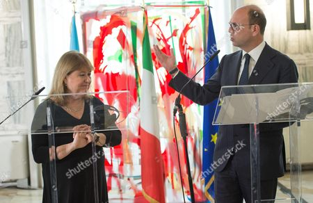 Angelino Alfano and Susana Malcorra