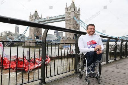 Kurt Fearnley (Australia). Photocall with London Marathon elite para athletes taking part in the World Para Athletics Marathon World Cup.