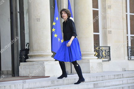 French Health Minister Marisol Touraine arrives at the Elysee Palace to attend a ceremony that decorates Microsoft Co-founder and philanthropist Bill Gates and his wife Melinda Gates, Co-Chair of the Bill and Melinda Gates Foundation, to receive the French Legion of Honor medal at the Elysee Palace, in Paris, France, 21 April 2017.