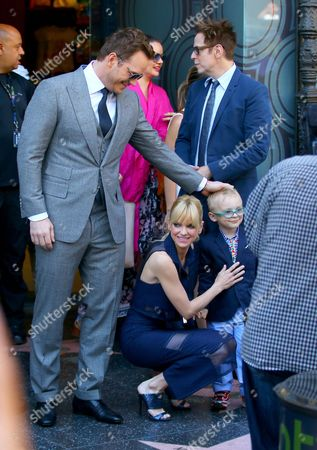 Chris Pratt, Anna Faris and Jack Pratt