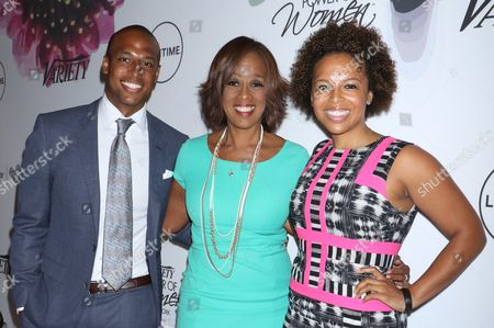William Bumpus Jr.., Gayle King and Kirby Bumpus