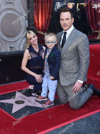 Chris Pratt with wife Anna Faris and son Jack Pratt