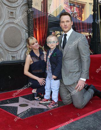 Anna Faris, Jack Pratt and Chris Pratt