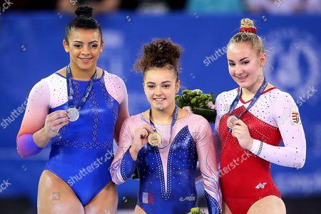 Coline Devillard, Elissa 'Ellie' Downie and Boglarka Devai