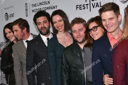 Dan Stevens, Morgan Spector, Rebecca Hall, Brian Crano, director, Gina Gershon and David Joseph Craig