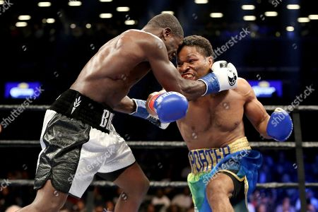 Shawn Porter, Andre Berto Shawn Porter, right, in action against Andre Berto during their welterweight fight on in Brooklyn, NY. Porter won via 9th round TKO
