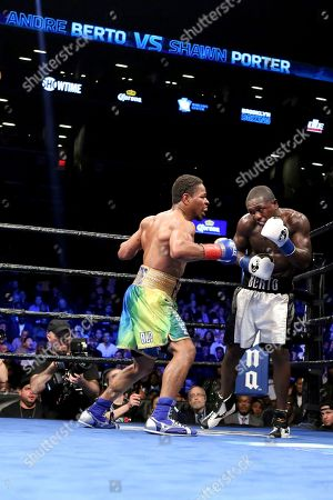 Shawn Porter, Andre Berto Shawn Porter, left, in action against Andre Berto during their welterweight fight on in Brooklyn, NY. Porter won via 9th round TKO