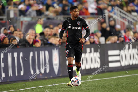 , 2017; Foxborough, MA, USA; D.C. United defender Sean Franklin (5) in action during the first half of an MLS game between D.C. United and New England Revolution at Gillette Stadium. The game ended in a 2-2 draw