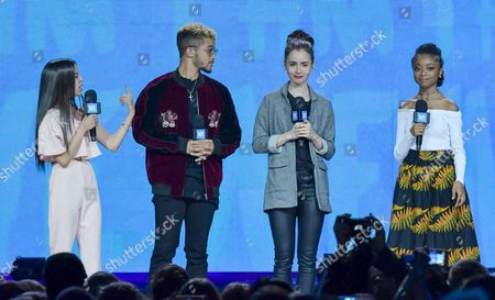 Stock Picture of Jenna Ortega, Jordan Fisher, Lily Collins, Skai Jackson