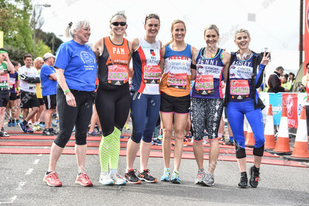 Stock Picture of Pamela Relph (second from left), Heather Stanning, Helen Glover, Jenni Falconer and Ashley James