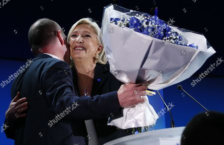 Marine Le Pen and Steeve Briois