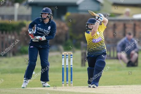 Editorial photo of Hampshire CCC Women v Middlesex CCC Women, ECB WOMEN'S County Championship - 23 Apr 2017