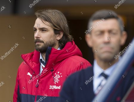 Niko Kranjcar of Rangers, who has a long-term injury, photographed at the tunnel before the William Hill Scottish Cup semi-final tie between Rangers & Celtic at Hampden Park, Glasgow on 22nd April