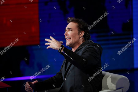 In this image taken, U.S. photographer David LaChapelle attends 'Che tempo che fa' Rai Italian state TV program, in Milan, Italy
