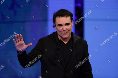 Stock Photo of In this image taken, U.S. photographer David LaChapelle attends 'Che tempo che fa' Rai Italian state TV program, in Milan, Italy