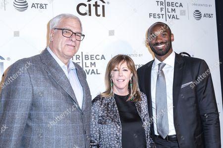 Phil Jackson, Jane Rosenthal and Kobe Bryant