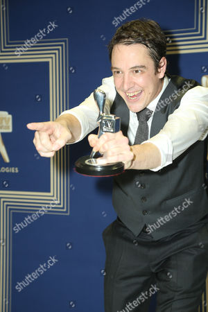 Samuel Johnson, poses with the Logie Award for 'Best Actor' for Molly (Channel Seven).