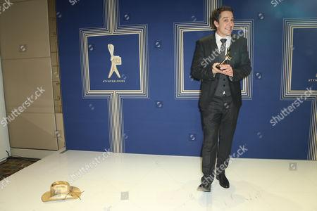Samuel Johnson, winner of the 'TV Week Gold Logie ' Best Personality On Australian TV' Logie Award for Molly (Channel Seven).
