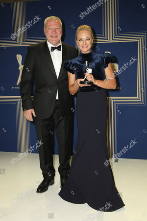 Scott Cam and Shelley Craft pose with the Logie Award for 'Best Reality Program' for 'The Block (Nine Network)'.