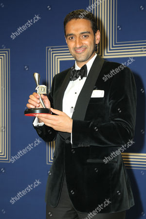 Waleed Aly poses with the award for 'Best Presenter' for The Project, Network Ten.