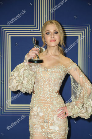 Stock Image of Jessica Marais, winner of the award for 'Best Actress'.