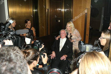 Kerri-Anne Kennerley, winner of the 'Hall Of Fame' award with her husband John Kennerley.