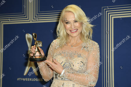 Stock Image of Kerri-Anne Kennerley, winner of the 'Hall Of Fame' award.