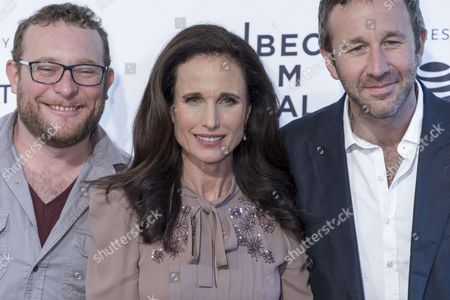 Stock Picture of James Adomian, Andie MacDowell and Chris O'Dowd