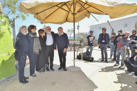 Stock Image of The director Gianni Amelio, the actress Greta Scacchi, the actress Giovanna Mezzogiorno, the actor Renato Carpentieri, Felice Laudadio