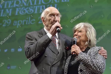 The director and actor Giuliano Montaldo with the director Margarethe Von Trotta