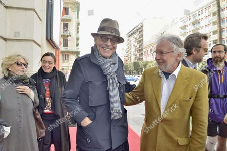Director Andrei Konchalovsky and Felice Laudadio artistic director of Bari International Film Festival