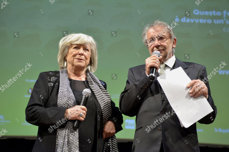The director Margarethe Von Trotta with Felice Laudadio