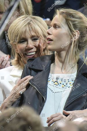 Brigitte Trogneux and daughter Tiphaine Auziere