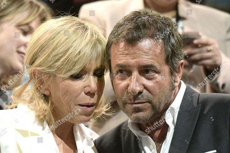 Brigitte Trogneux and Bernard Montiel