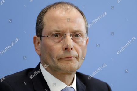 The Interior Minister of the German state of Saxony, Markus Ulbig, attends a press conference on the crime report 2016 in Berlin, Germany