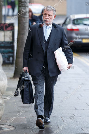 Donald Findlay QC arrives at court.